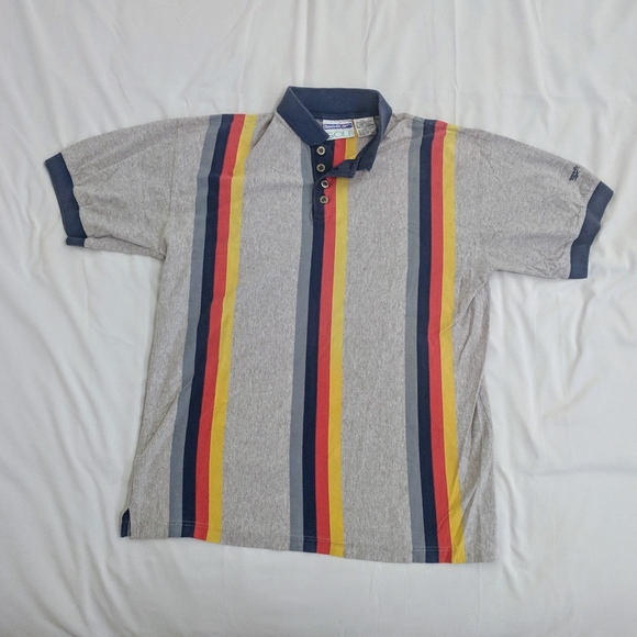 db4fe4fcc3a Reebok GOLF Shirts | Vtg 90s Color Block Striped Polo Sz M | Poshmark